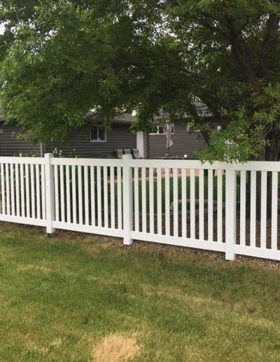 Closed Picket Vinyl Fencing Regina