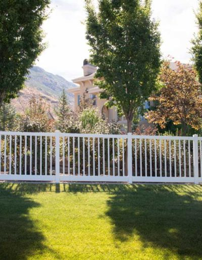 Closed Picket Vinyl Fence Regina